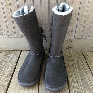 UGG Bailey Bow Genuine Sheepskin Tall Boots